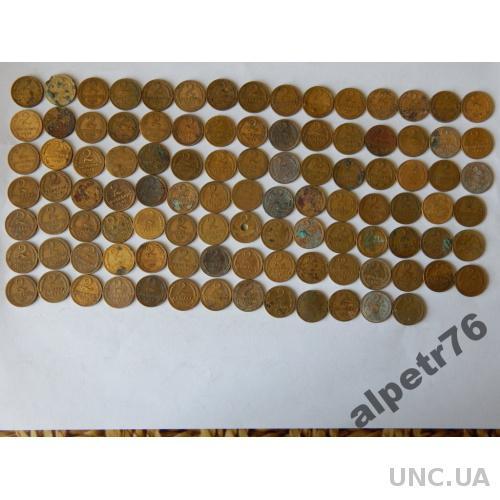 Монеты ссср 2 копейки 103 штуки  DSCN3608