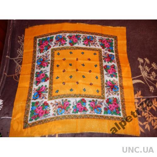 Платок ссср НОВЫЙ шерсть  люрекс  №116    75  см