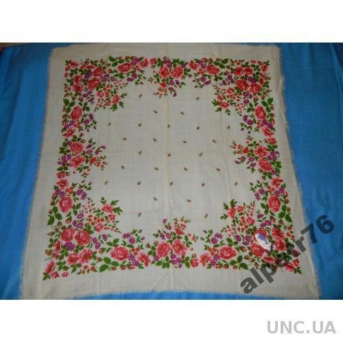 Платок ссср шерсть №614    95  см