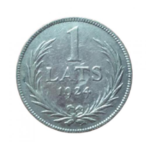 +++1 лат 1924 ЛАТВІЯ = СЕРЕБРО