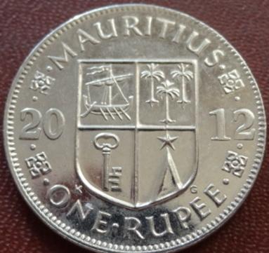 1 рупія 2012 МАВРИКІЙ = БЛЕСК