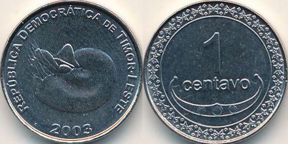 1 сентаво 2003 СХІДНИЙ ТИМОР = a UNS
