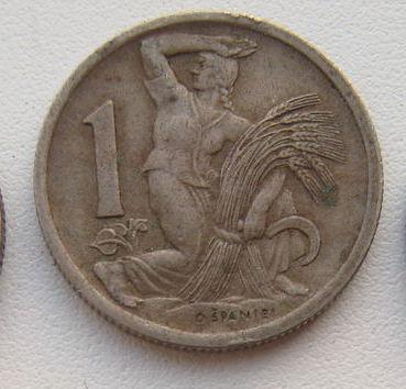 1 стара корона 1946 ЧЕХОСЛОВАКІЯ