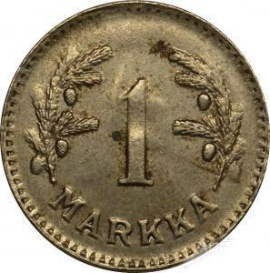 1 стара марка 1948 ФІНЛЯНДІЯ