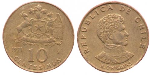 10 старих сентаво 1971 ЧИЛІ = РЕДКАЯ