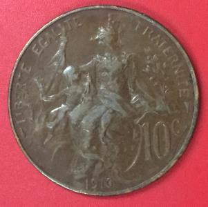 10 сантімів 1916 ФРАНЦІЯ