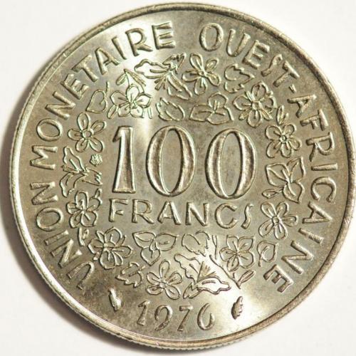 100 франків КФА 1976 ФРАНЦУЗЬКА ЗАХІДНА АФРИКА
