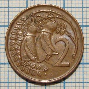 2 цента 1972 НОВА ЗЕЛАНДІЯ