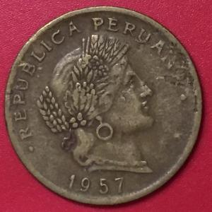 20 сентаво 1957 ПЕРУ = РЕДКАЯ