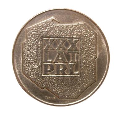 200 злотих 1974 = СЕРЕБРО = ПОЛЬЩА = 30 років ПНР