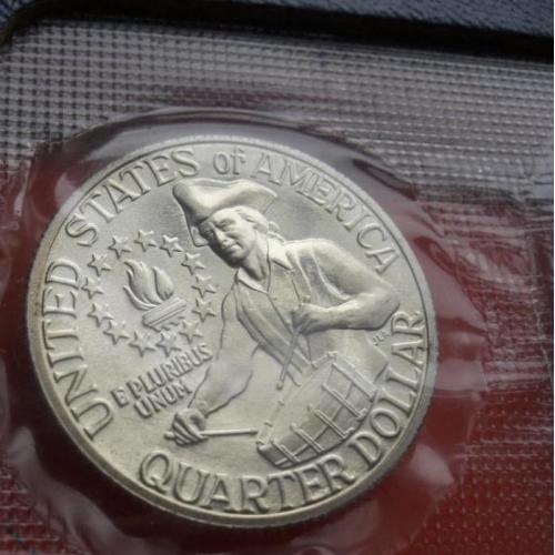 25 центів 1976 = СЕРЕБРО = США = 200 років НЕЗАЛЕЖНОСТІ