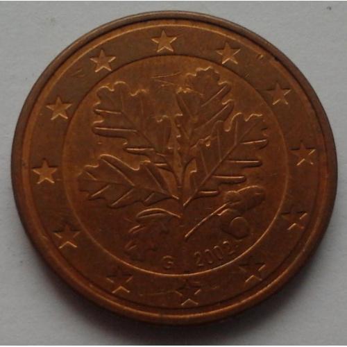 5 євроцентів 2002 G=НІМЕЧЧИНА  = СОХРАН