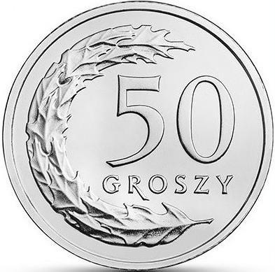 50 грош 2017 ПОЛЬЩА = aUNC