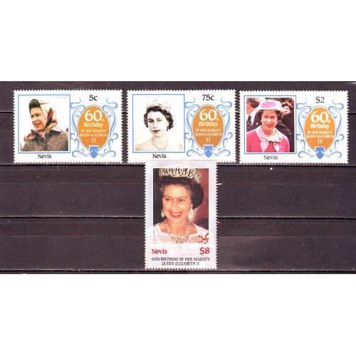 Нэвис**. 1986г. Королева Елизавета-II