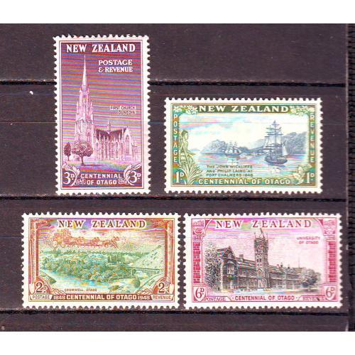 Новая Зеландия**. 1948г. Архитектура, парусник