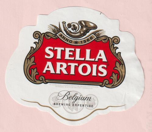 """Пивная этикетка """"Stella Artois""""."""