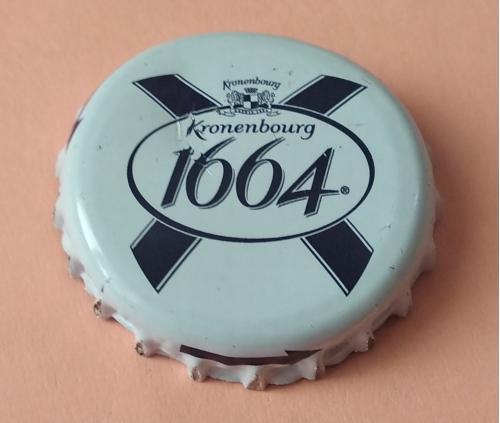"""Пивная пробка-""""Kronenbourg 1664"""" (белая)"""