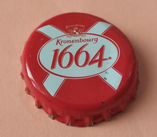 """Пивная пробка-""""Kronenbourg 1664"""" (красная)"""