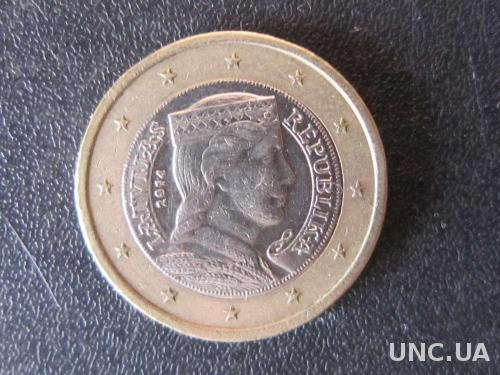 1 евро Латвия 2014