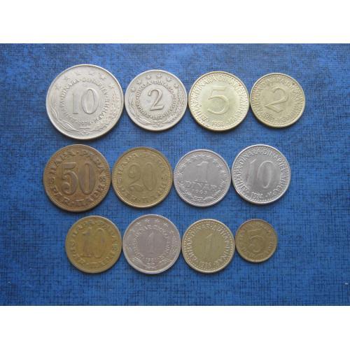 12 монет Югославия разные одним лотом хорошее начало коллекции