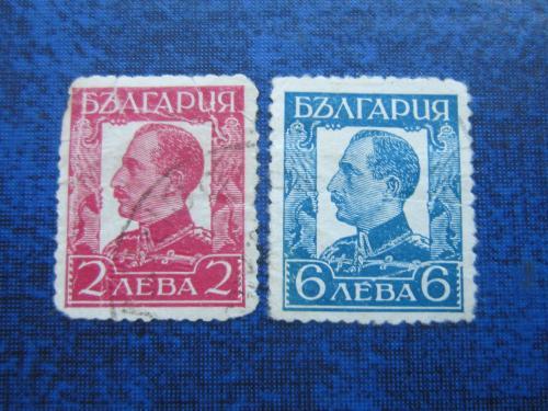 2 марки Болгария 1931-1937 стандарт царь Борис III гаш