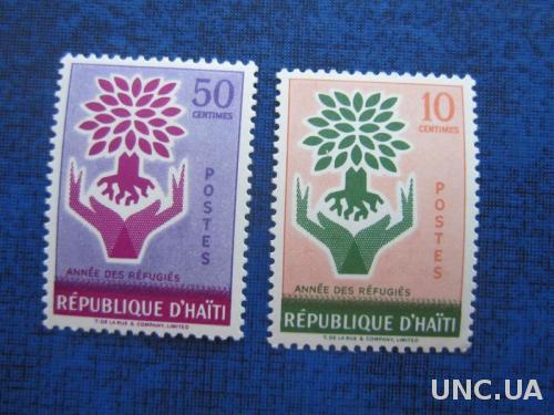 2 марки Гаити 1960 деревья MH