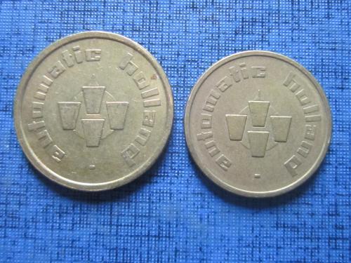 2 жетона разного диаметра для кофейных автоматов Голландия 22 и 20 мм