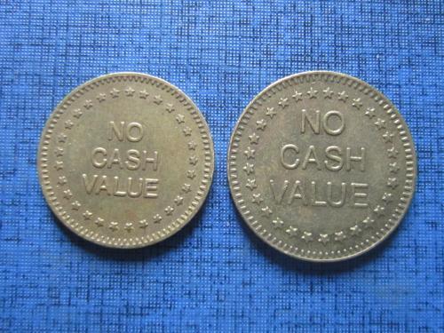 2 жетона разного диаметра игральные в покер NO CASH VALUE 25  и 22 мм