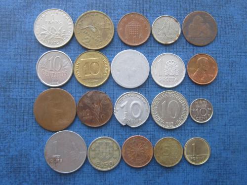 20 монет мира микс без повторов одним лотом хорошее начало коллекции №7