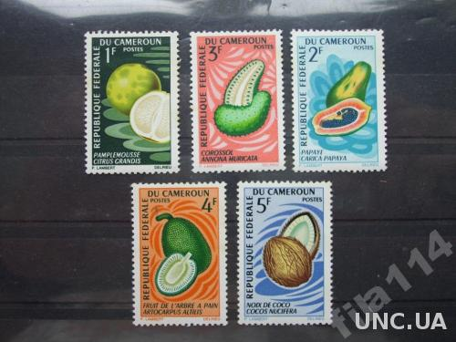 5 марок Камерун тропические плоды н/гаш