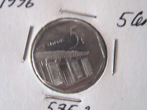 5 сентаво Куба 1996 интур