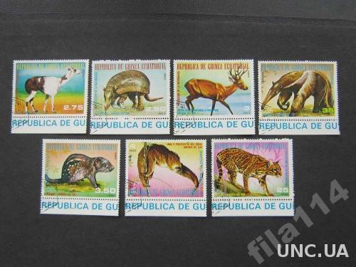 7 марок Гвинея Экваториальная фауна Южной Америки