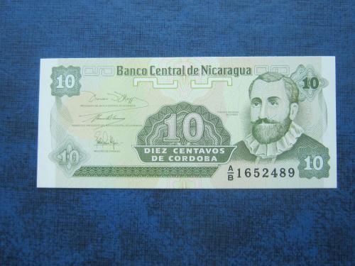 Банкнота 10 сентаво Никарагуа 1991 UNC пресс