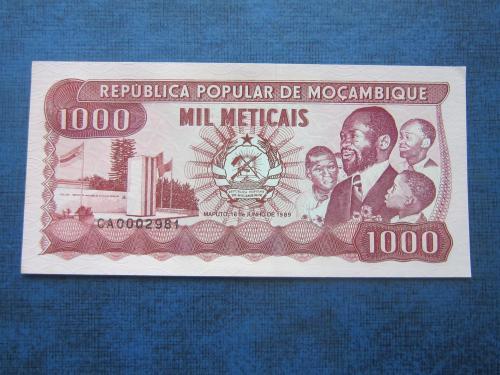Банкнота 1000 метикайс Мозамбик 1989 UNC пресс