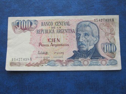 Банкнота 100 песо Аргентина 1983-1985 состояние VF-XF