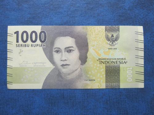 Банкнота 1000 рупий Индонезия 2016 UNC пресс