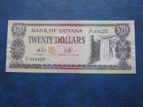 Банкнота 20 долларов Гайана 1996-2018 судостроение корабль UNC пресс