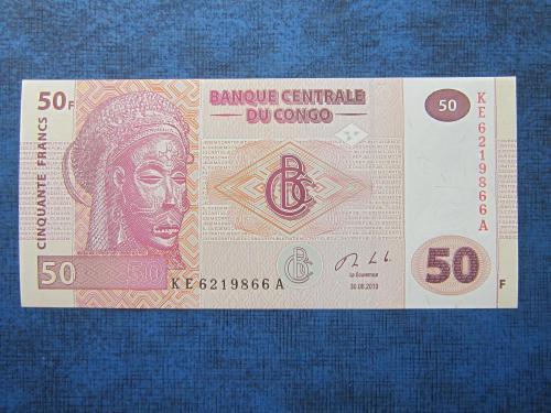 Банкнота 50 франков Конго 2013 UNC пресс