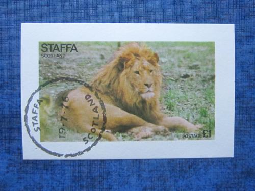 блок Стаффа Шотландия 1976 фауна лев гаш