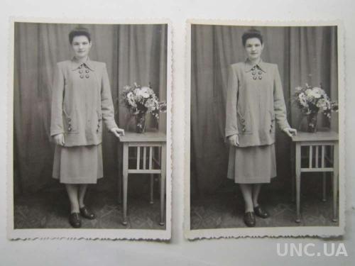 Фото старое 2 штуки 1955 Люция Неподаренные фото
