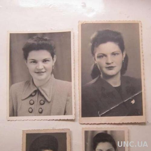 Фото старое 4 штуки 1950-годы Такая разная Люция