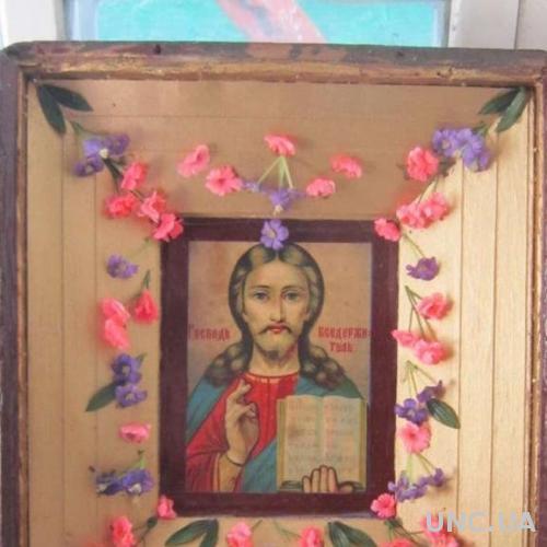 Икона Господь Вседержитель в киоте
