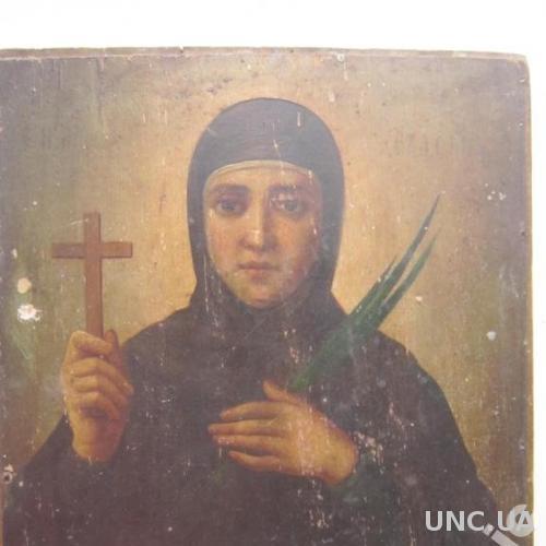 Икона Святая Евдокия. Редкая. Дерево, масло