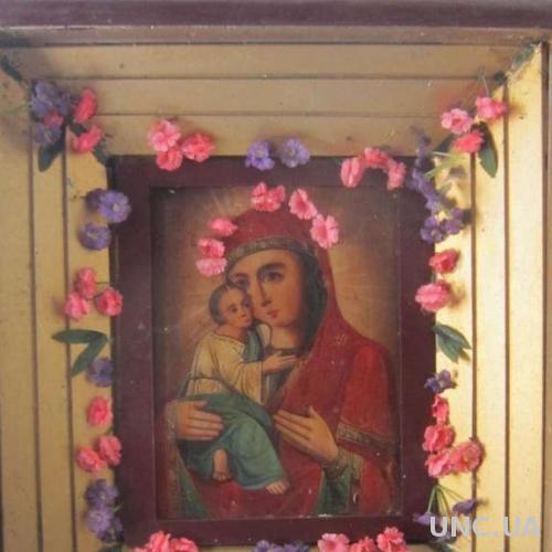 Икона Владимирская Богоматерь в киоте