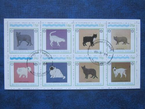 м/лист 8 марок Бернера Шотландия 1984 кошки гаш