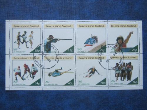 м/лист 8 марок Бернера Шотландия 1984 спорт олимпиада Лос Анджелес гаш