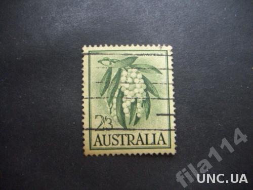 марка Австралия 2 шиллинга и 3 пенса плоды