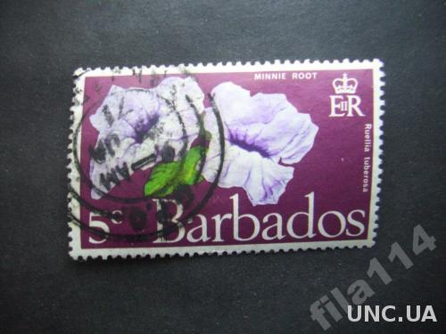 марка Барбадос колония цветок