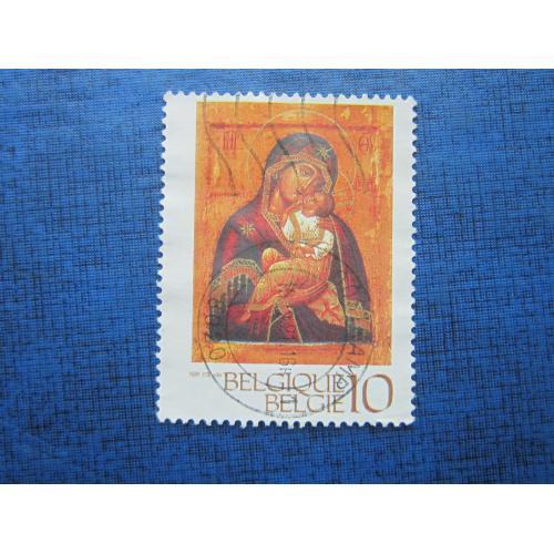 Марка Бельгия 1991 искусство живопись православная икона гаш