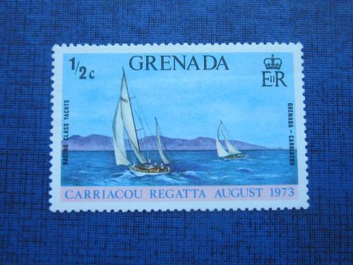 Марка Гренада 1973 транспорт яхта спорт регата MNH